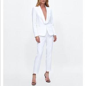 Zara White Tailored pant Size 4